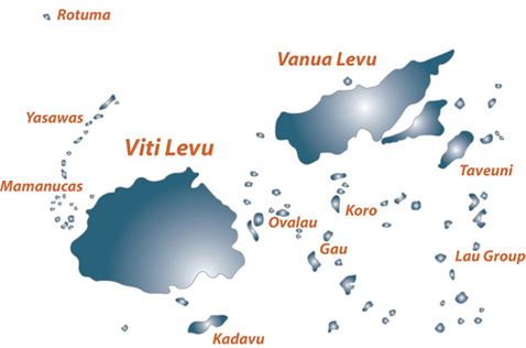 Fiji Geography - Fiji location